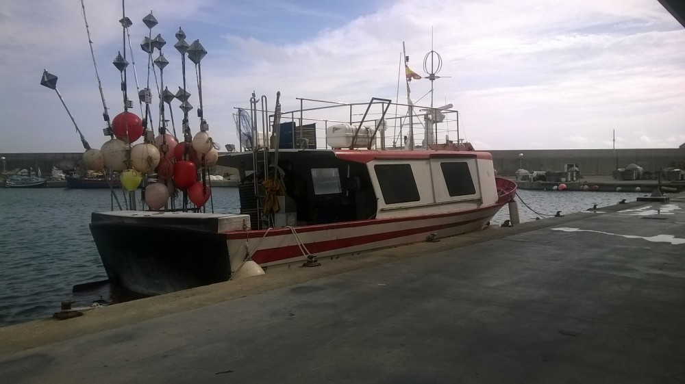 Pelagic longliner at Torredembarra harbour. Photo: Matxalen Pauly